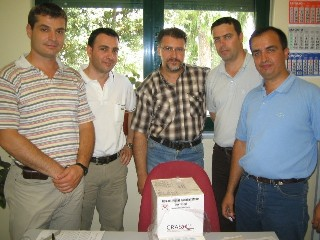 Durres Hospital team with drug box