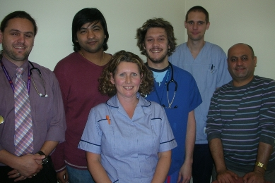 Derbyshire Royal Infirmary team in the UK